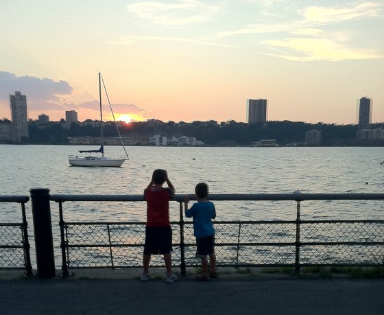 Riverside Park at sunset