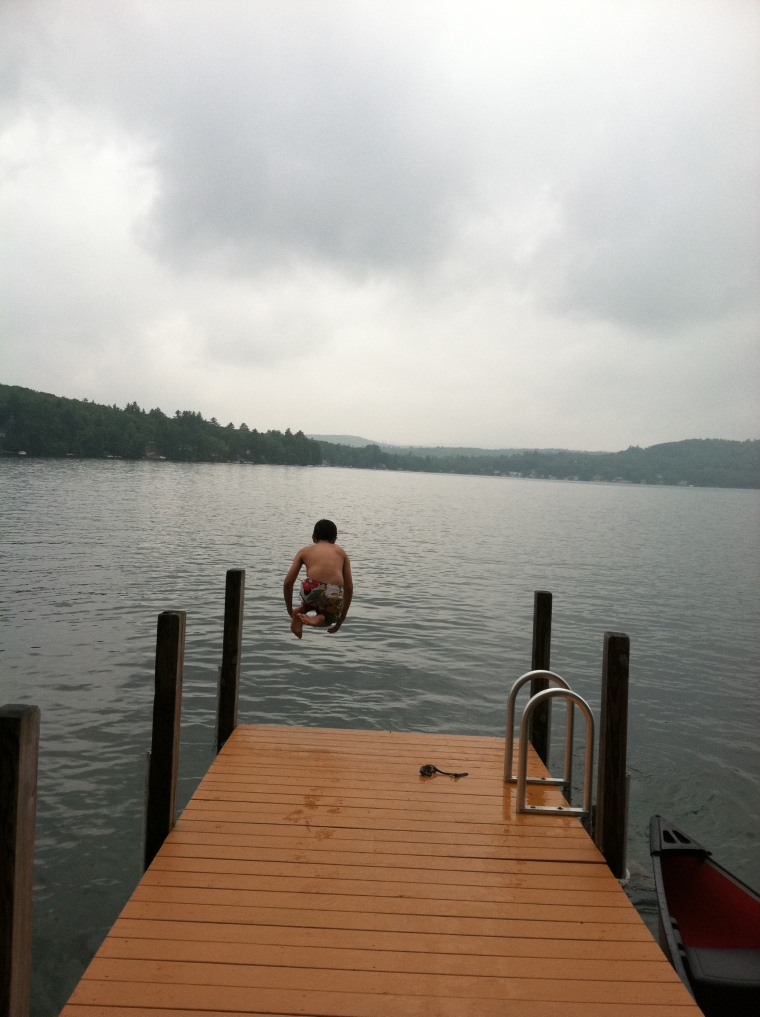 Cannonball into Merry Meeting Lake, New Hampshire