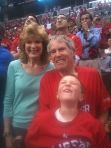 Emmett, RJD and Blake Griffin's Mom, 2012