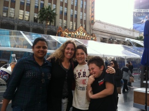 After McFarland, U.S.A. at the El Capitan Theater in Hollywood.
