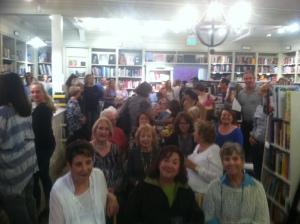 My hometown crowd at Diesel Bookstore