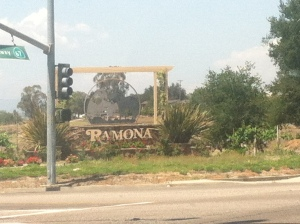 My first visit to Ramona, CA, in eastern San Diego county.