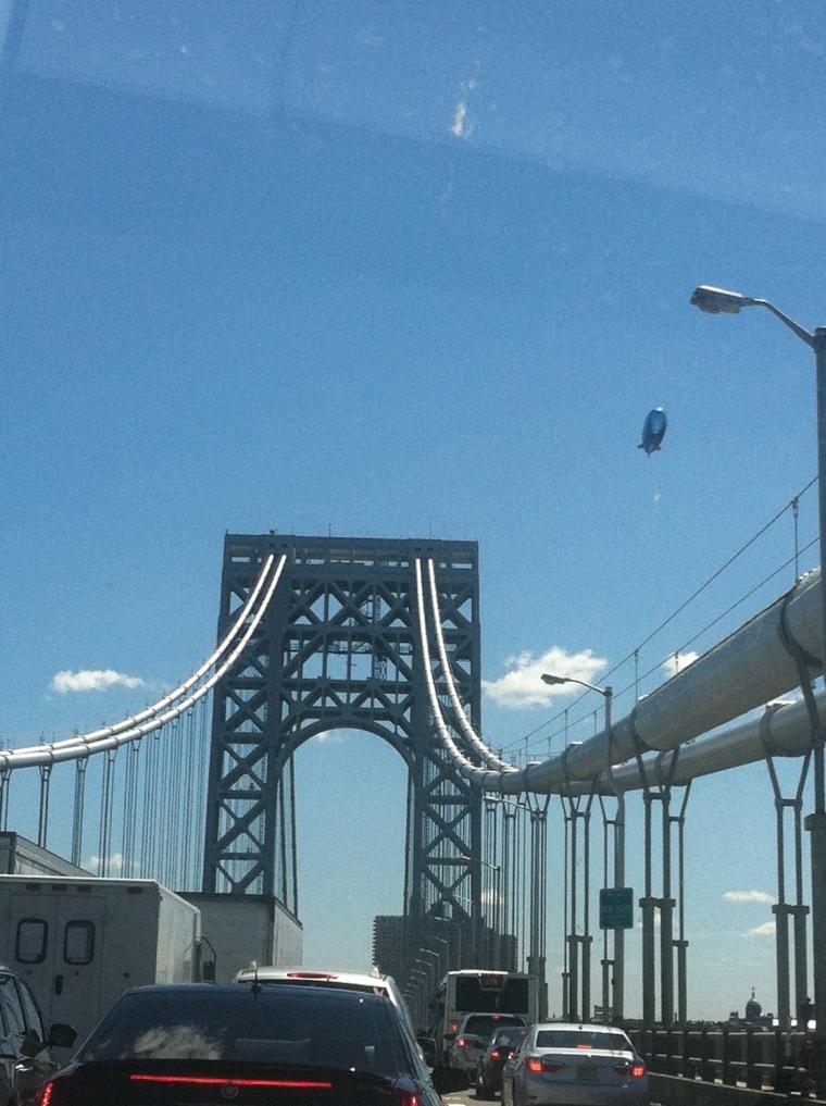 From the Washington Crossing bridge to the George Washington Bridge.
