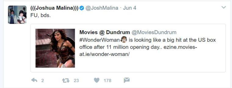 JoshMalina Tweet
